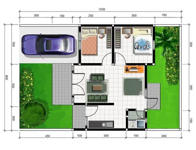 Simple Interior Plan For Modern Home
