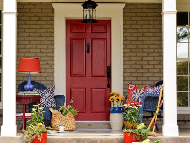 Best minimalist front home porch ideas 4 home ideas for Tiny front porch decorating ideas
