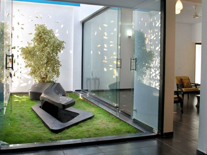 Indoor garden design for affordable home decor 4 home ideas for Small indoor patio ideas