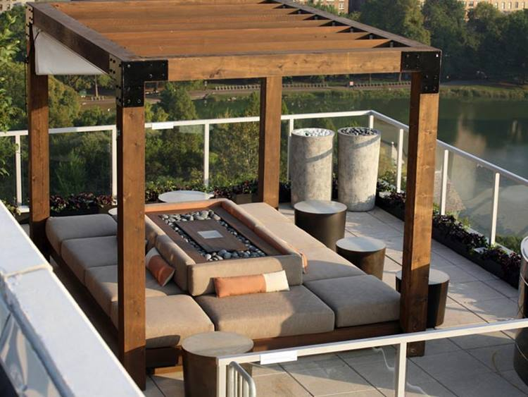 Small Wooden Terrace Roof Idea