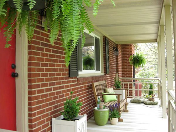 Terrace Garden For Front Porch Decor