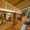 Tropical Wooden House Porch Design