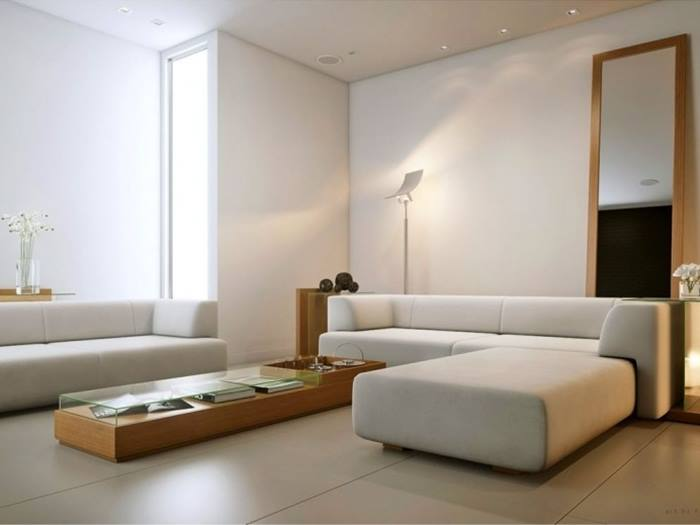 White Living Room Furniture Modern Minimalist