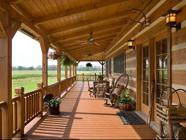 Wooden Home Porch Furniture Decoration