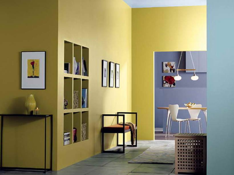 Yellow Home Interior Paint Color Scheme