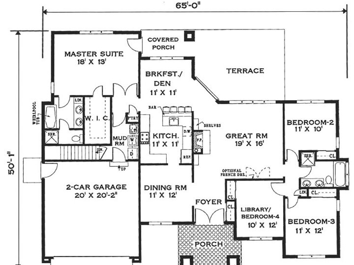 1 Floor Home Arrangement Plan