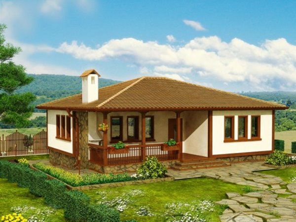 Simple modern home with 1 floor style 4 home ideas for Simple roof design house plans