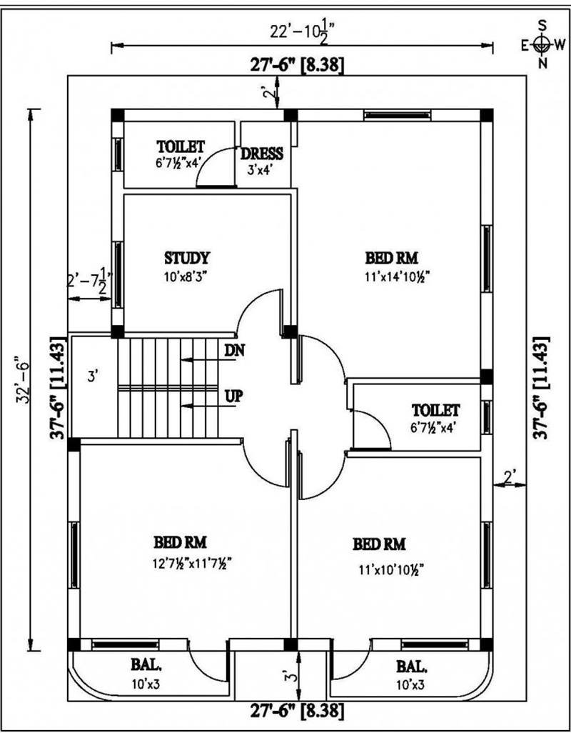 2 Floor Minimalist Home Plan Idea