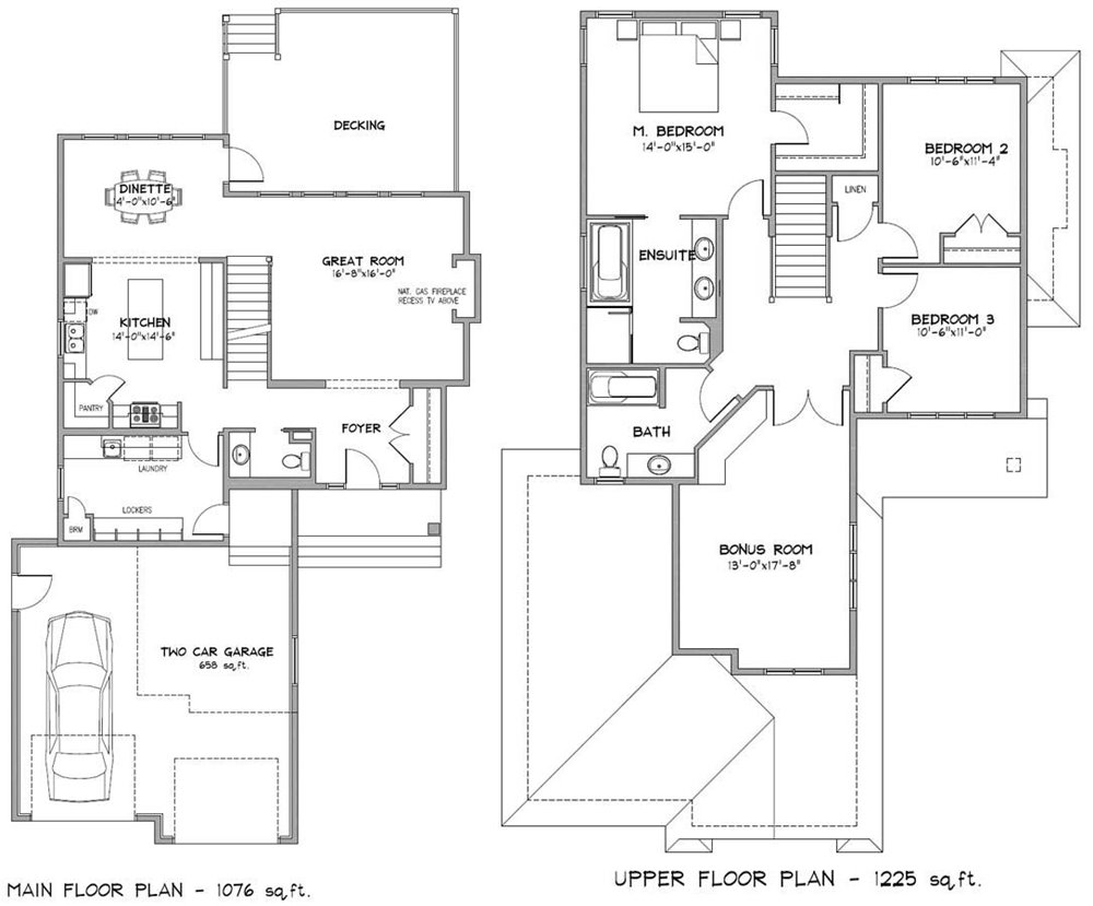 Modern house 2 floor plans images for Two floor house blueprints