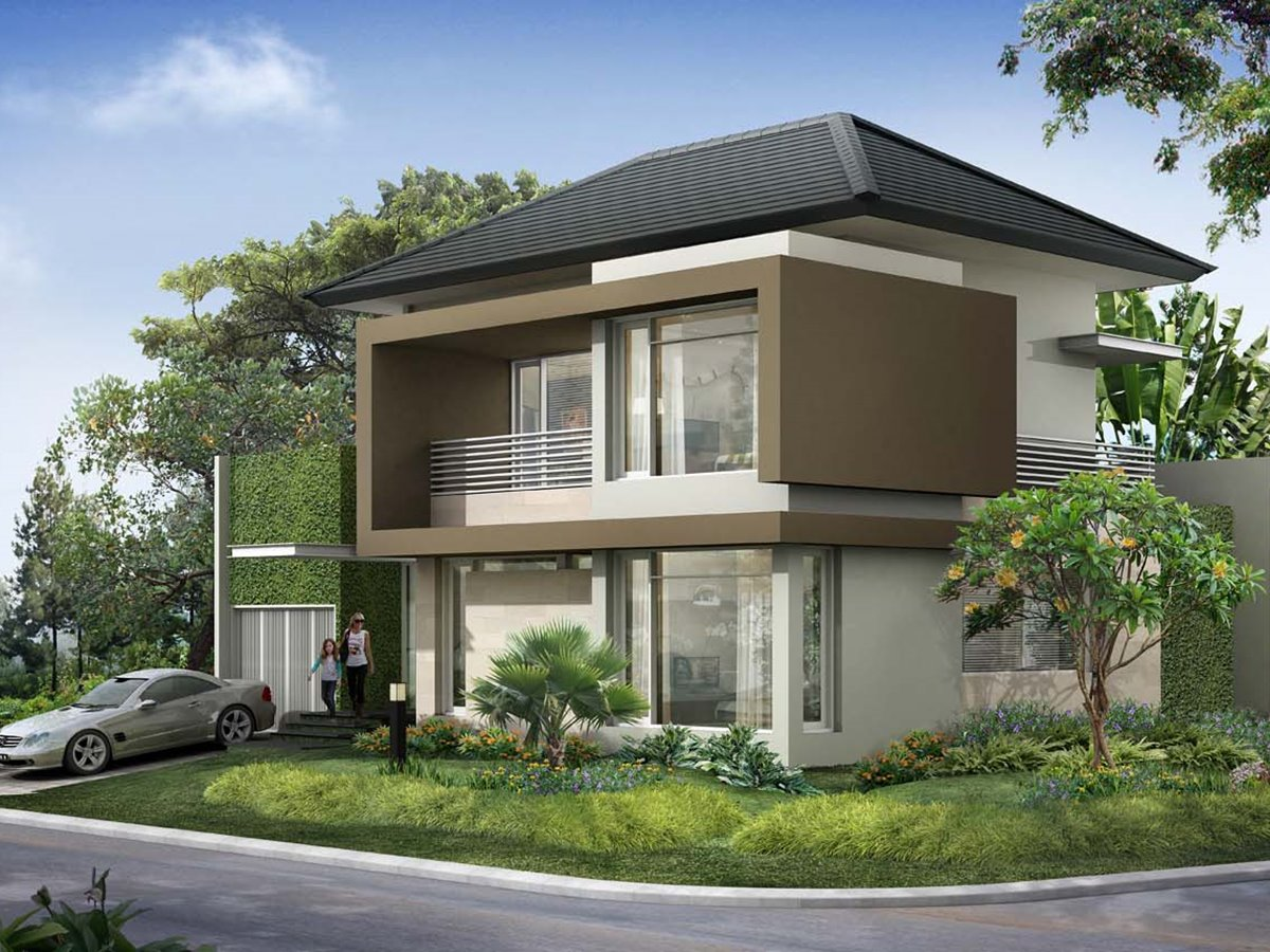 2 story minimalist tropical house 4 home ideas for Tropical home plans