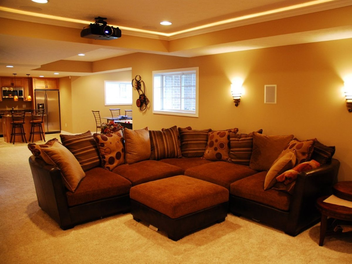 Basement Living Rooms Design basement living room with minimalist design - 4 home ideas