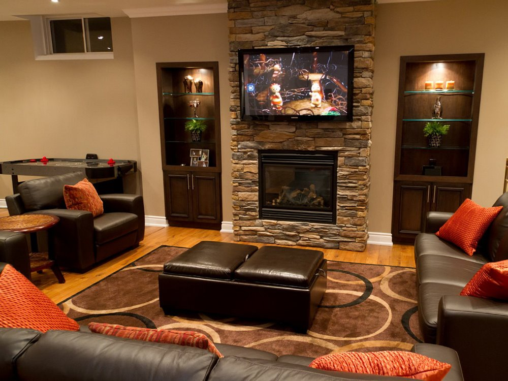 Beautiful Decoration For Basement Living Room