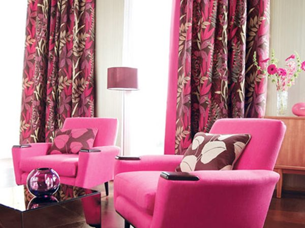 Beautiful Pink Curtain Design Pattern