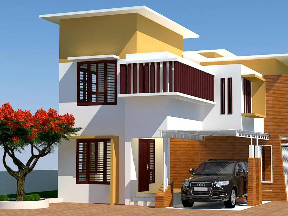 Simple modern house architecture with minimalist design for Simple house exterior design