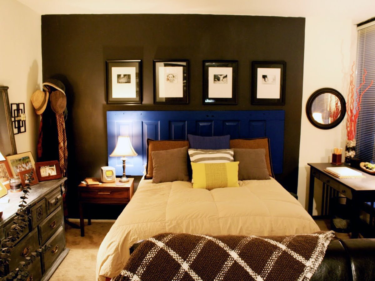 Bedroom Wall Paint Idea In Apartment
