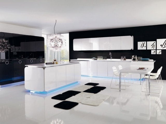 Black White Luxury Kitchen Color Combination