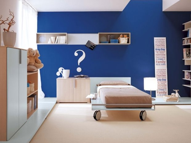 Calm Blue Minimalist Home Paint Color