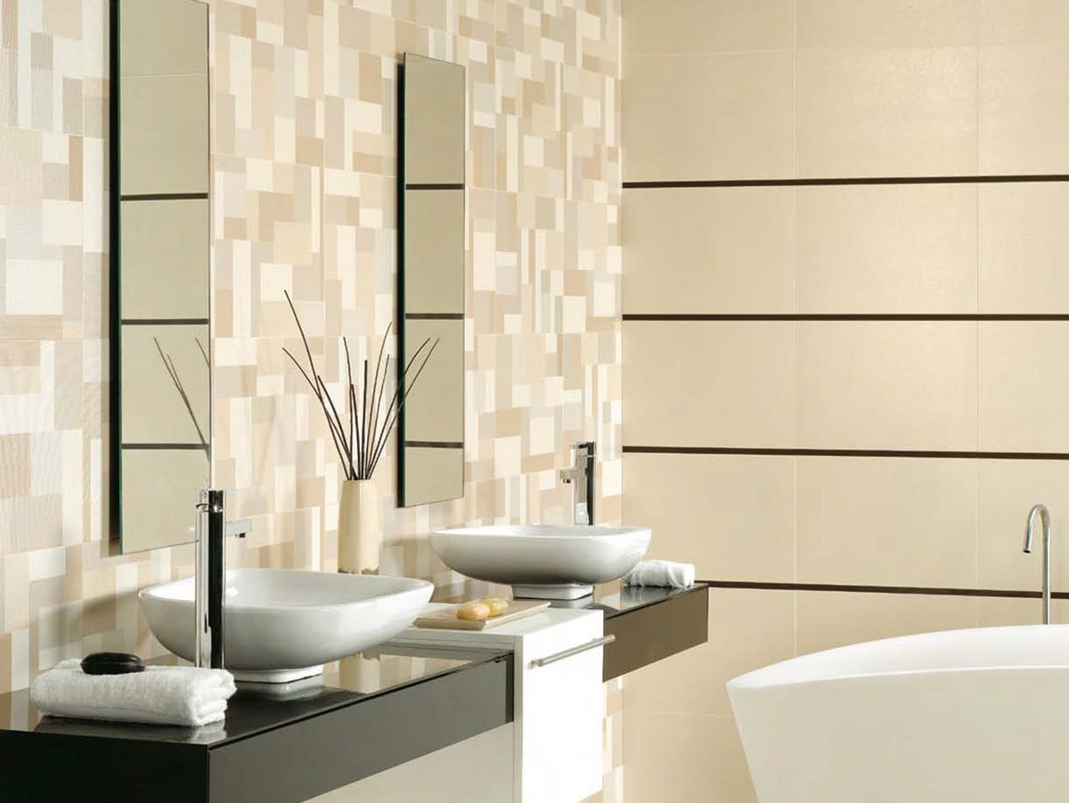 Ceramic Pattern For Minimalist Bathroom Decor