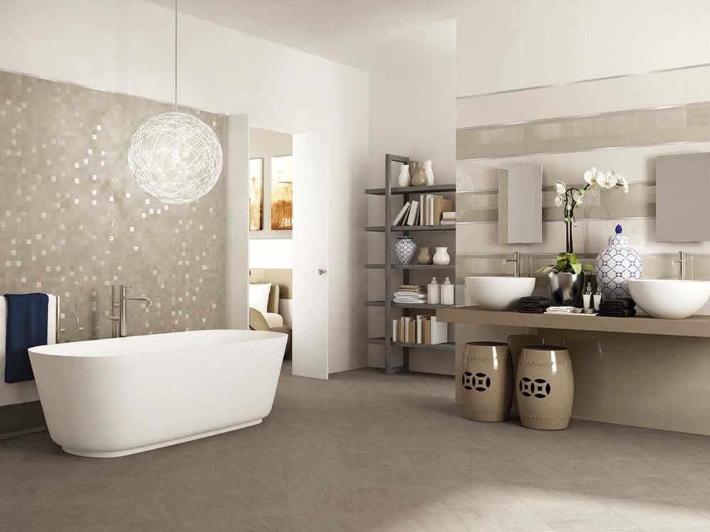 Ceramic Pattern To Make Bathroom Look Elegant