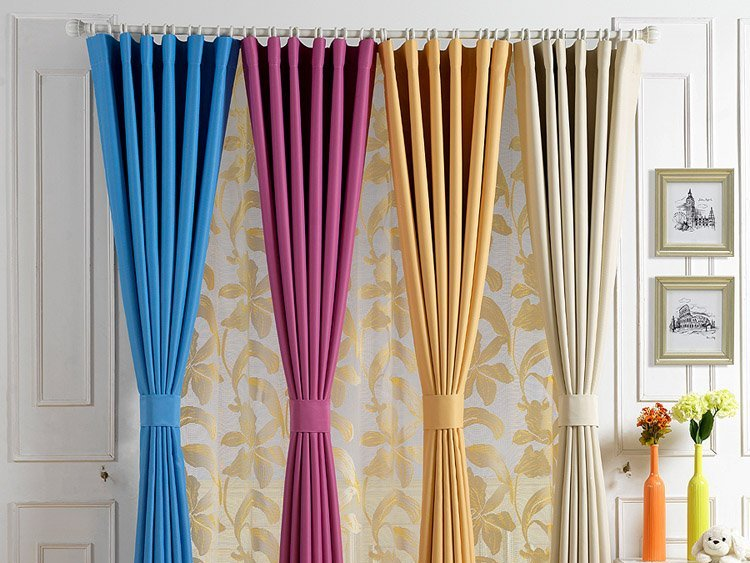 Colorful Minimalist Home Curtain Design