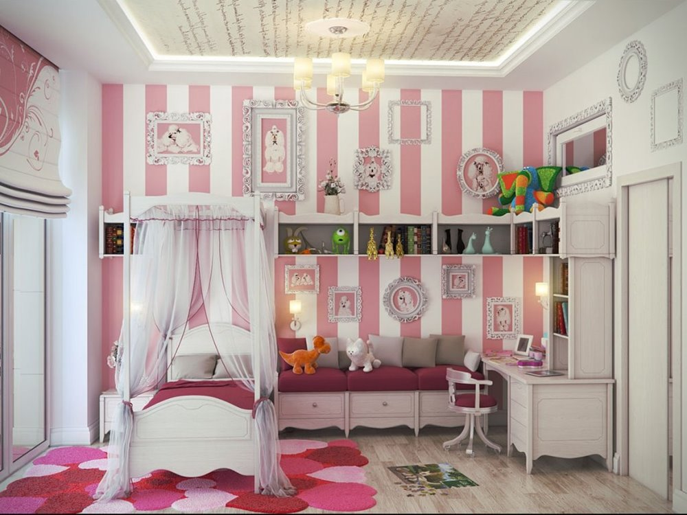 Emejing girly bedroom decorating ideas contemporary home for Bedroom designs girly