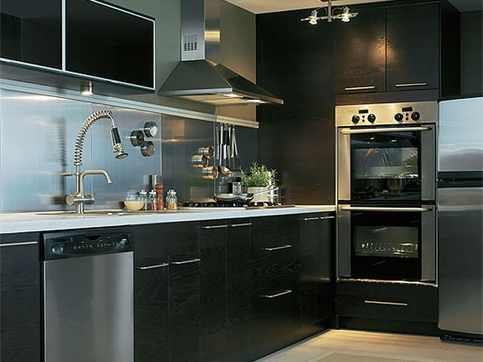 Elegant Black Modern Kitchen Paint Color