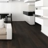 Elegant Black Wooden Flooring For White Room