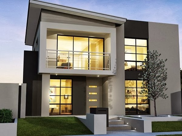 2 Beautifully Modern Minimalist Asian Designs: Elegant Exterior For 2 Storey Minimalist House