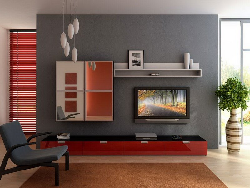 Elegant Gray Red Minimalist Home Paint