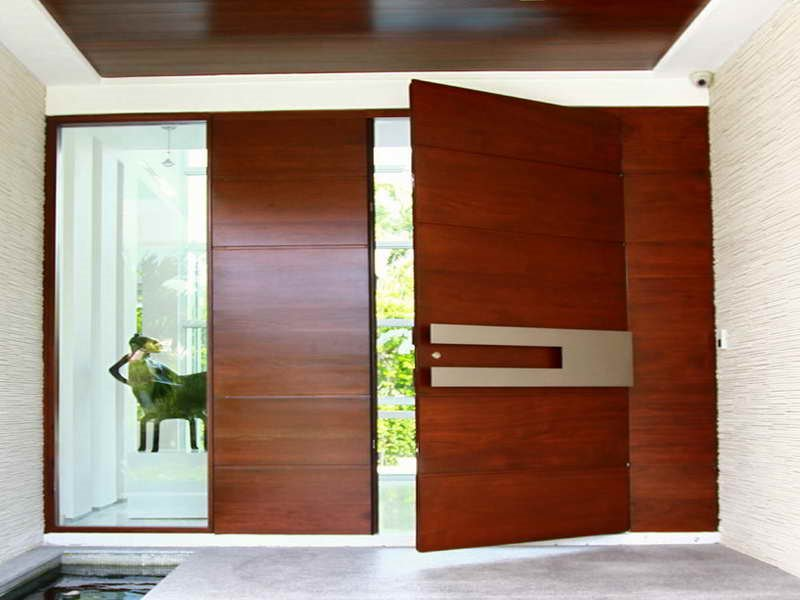 Elegant Minimalist Wooden Door Design