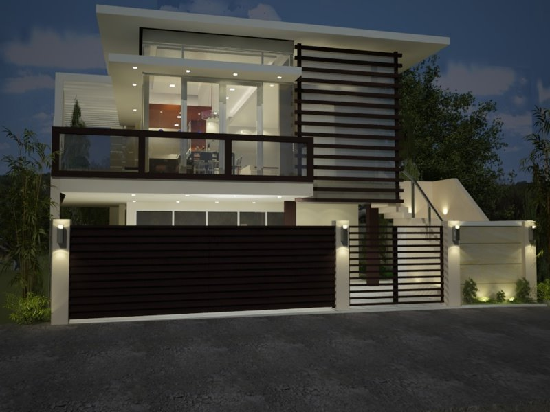 Modern minimalist house fence design trend in 2015 4 for Classic minimalist house design