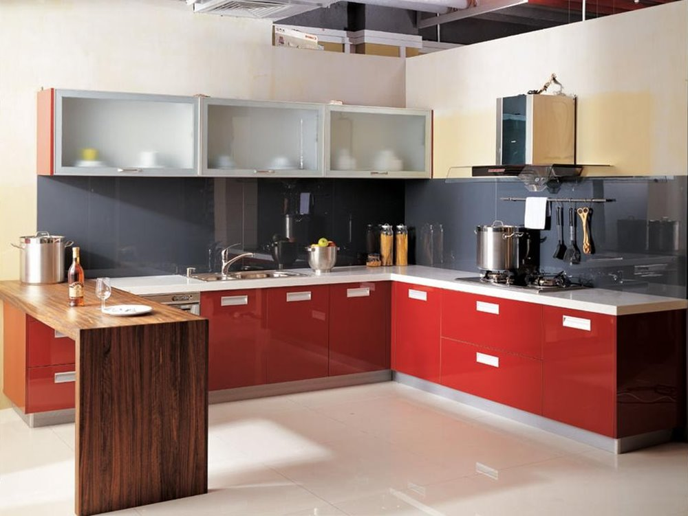 Elegant Modular Kitchen Color Combination