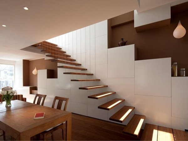 Elegant Wooden Stairs Design For Home