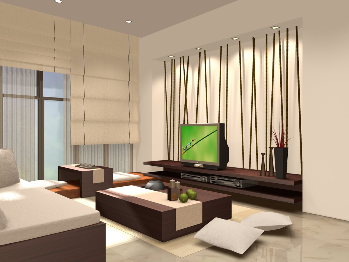 ... Family Room With Urban Home Decor ...
