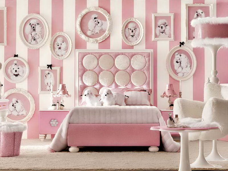 Girly Bedroom Accessories Design Idea. Furniture And Decorations