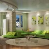 Green Living Room Furniture Design