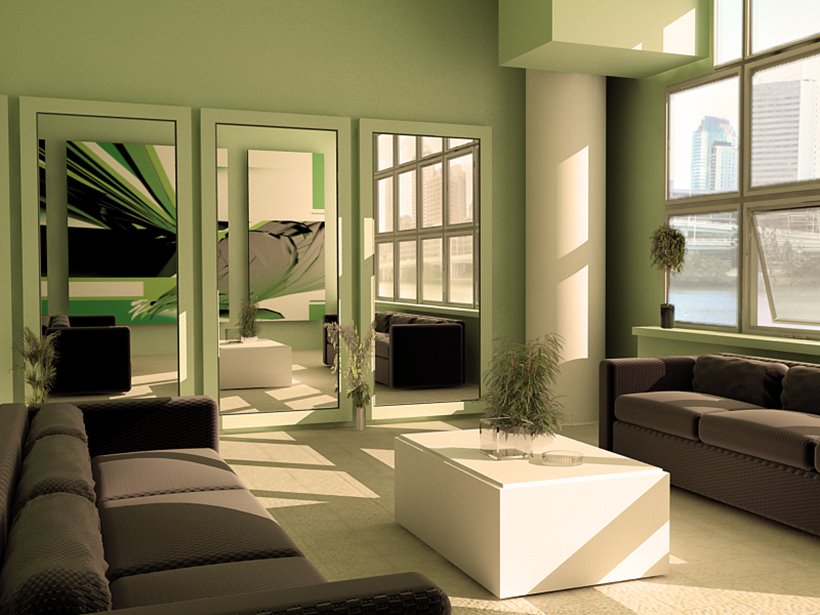 Green Living Room Paint Color Scheme