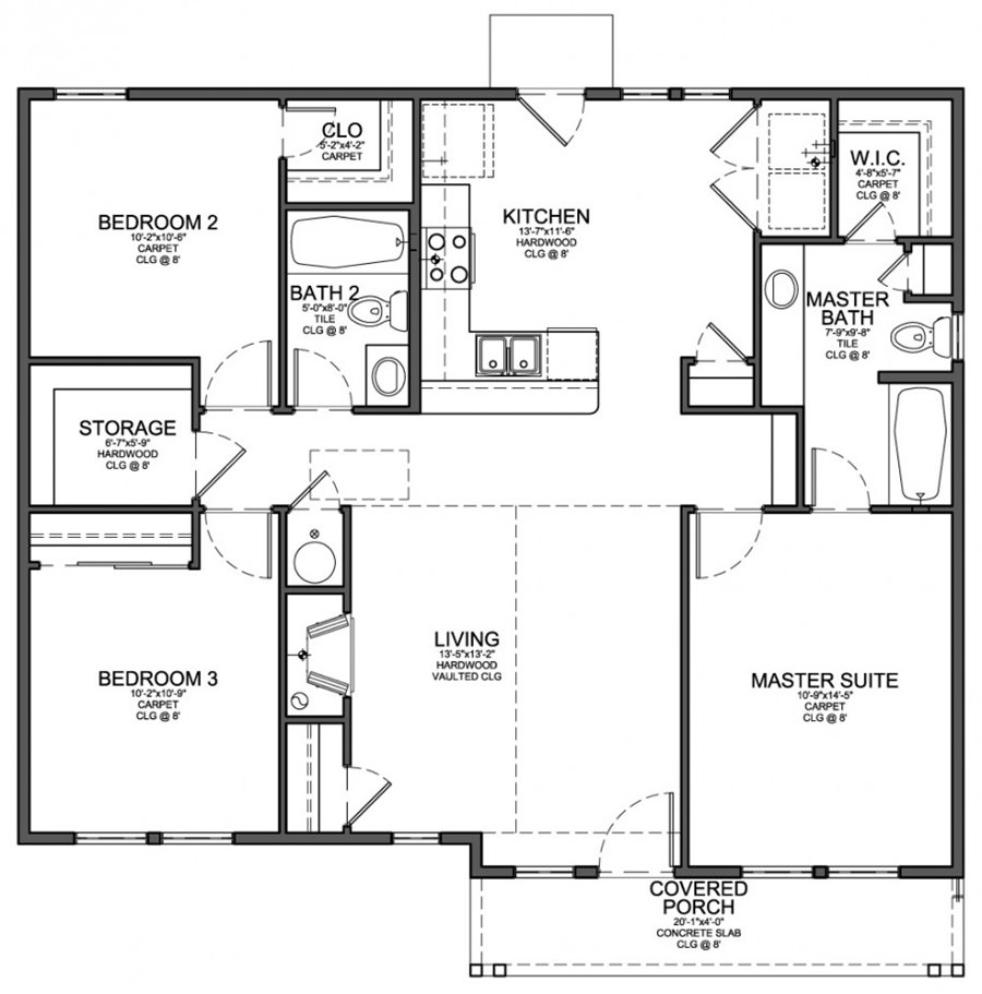 Home Plan With Nice Interior Management