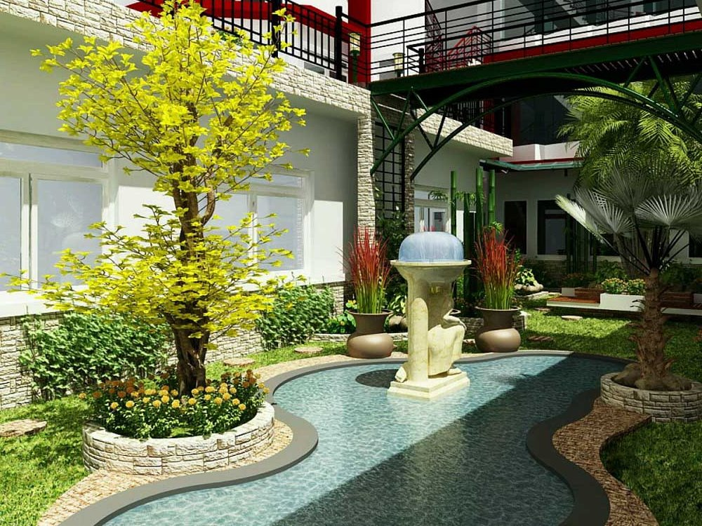 Plants selection to create luxury garden landscape 4 for How to landscape backyard