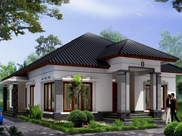 Simple modern home with 1 floor style 4 home ideas Modern house 1 floor