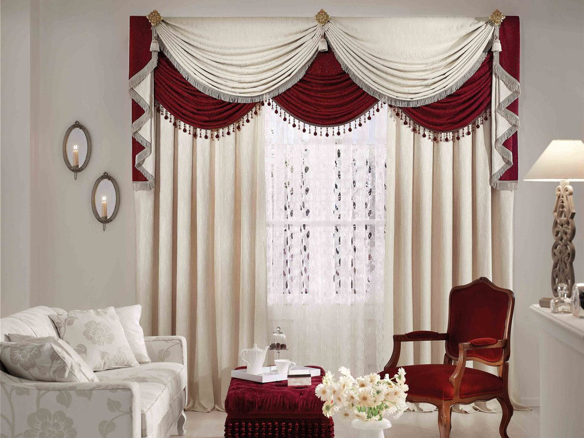 Luxury White Curtain Design For Decor