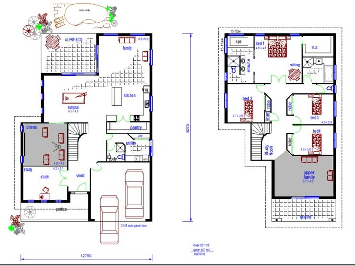 Minimalist 2 Storey Home Plan Idea