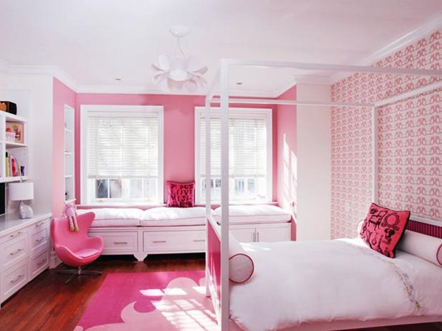 Minimalist Design For Girly Bedroom Idea