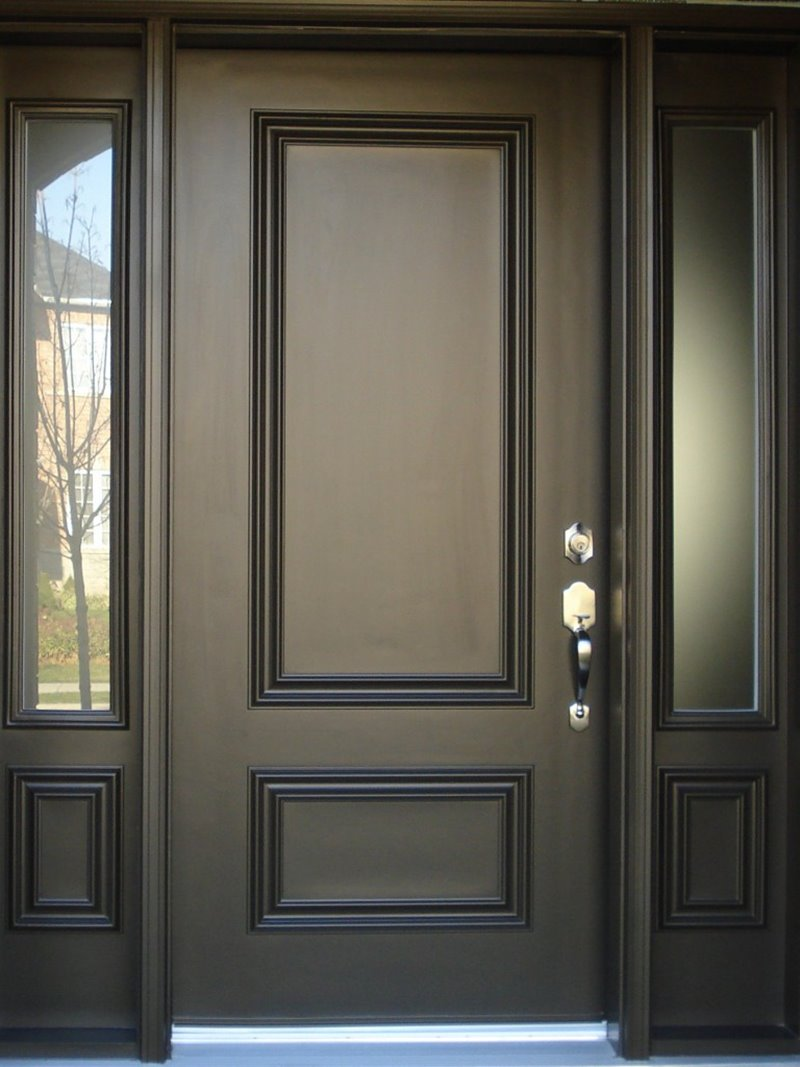 Minimalist door design black color 4 home ideas for Traditional wooden door design ideas