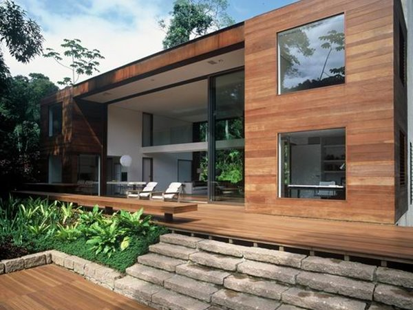 Minimalist Tropical Home Exterior Decor Idea