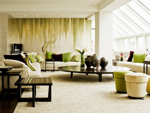 Modern Furniture For Green Living Room