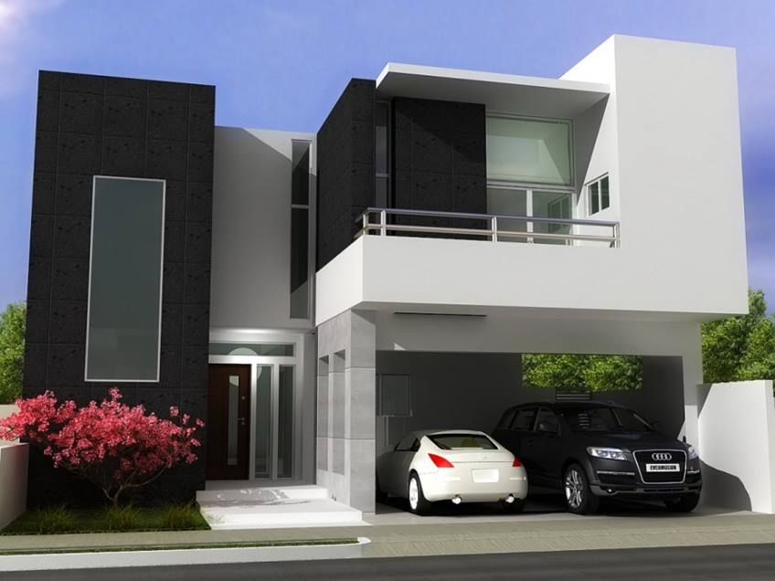 Modern Minimalist Home Black And White