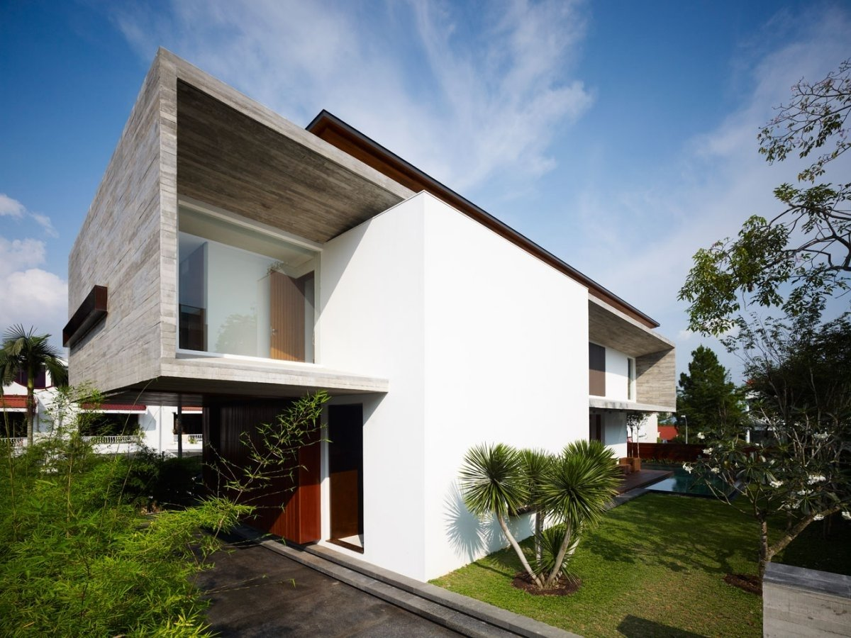 Newest tropical modern minimalist house pictures 2015 4 for Minimalist home design singapore