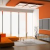 Orange Living Room Paint And Furniture Color