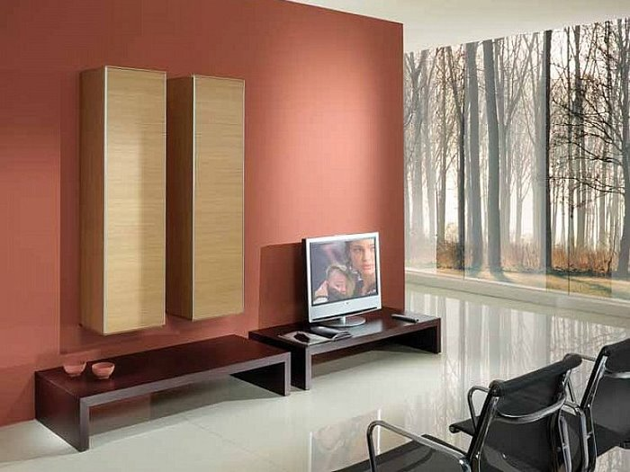 Incroyable Red Wall Paint Color For Family Room